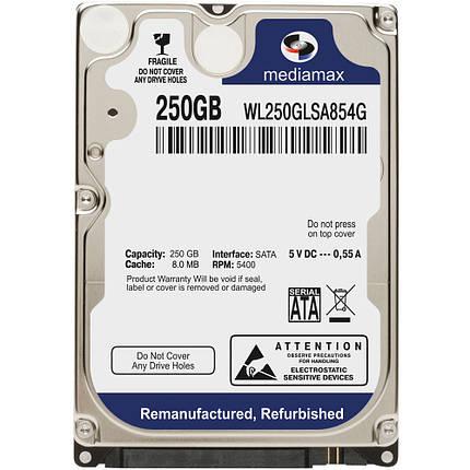 """Жесткий диск 2.5"""" для ноутбука 250 Гб/Gb Mediamax, SATA2, 8Mb, 5400 rpm (WL250GLSA854G), фото 2"""