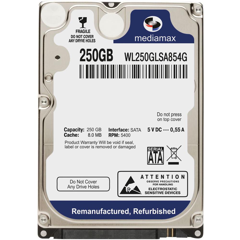 "Жесткий диск 2.5"" для ноутбука 250 Гб/Gb Mediamax, SATA2, 8Mb, 5400 rpm (WL250GLSA854G)"