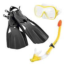 Детский набор для плавания (маска+трубка+ласты) INTEX (55658), фото 3