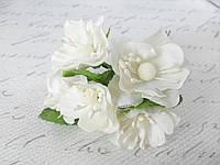 Яблоневый цвет 72 шт/уп. оптом диаметр 4 см молочного цвета