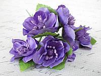 Яблоневый цвет 72 шт/уп. оптом диаметр 4 см фиолетового цвета