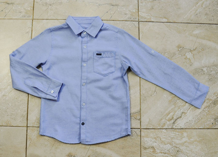 Рубашка школьная голубого цвета для мальчика, Jacklions