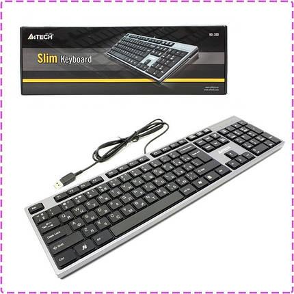 Клавиатура A4tech KD-300 X-SLIM USB GRAFIT-CZARNA, фото 2