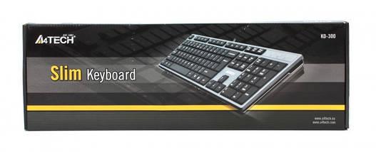 Клавиатура A4tech KD-300 X-SLIM USB GRAFIT-CZARNA, фото 3