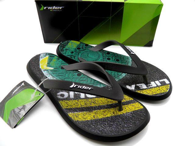 Шлепки Rider 82562-23899 черный/зеленый * 21516