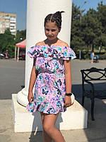 Сарафан на девочку с принтом рост 134-152 см, фото 1