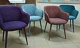 Кресло обеденное BAVARIA (Бавария) велюр бирюза Nicolas (бесплатная доставка), фото 9