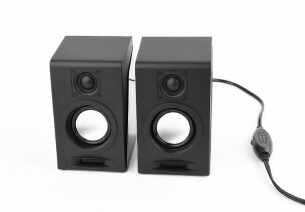 Колонки 2.0 Gembird SPK-DU-03 Black, 2 x 3 Вт, пластиковый корпус, питание от USB, управление спереди, фото 2
