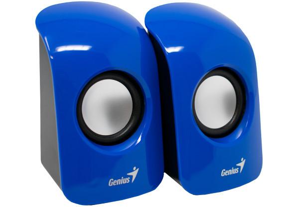 Колонки 2.0 Genius SP-U115 Blue, 2 x 0.75 Вт, пластиковый корпус, питание от USB, управление сбоку