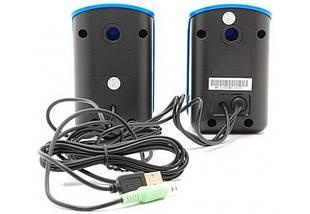Колонки 2.0 Genius SP-U115 Blue, 2 x 0.75 Вт, пластиковый корпус, питание от USB, управление сбоку, фото 2
