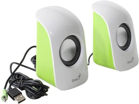 Колонки 2.0 Genius SP-U115 White, 2 x 0.75 Вт, пластиковый корпус, питание от USB, управление сбоку, фото 2