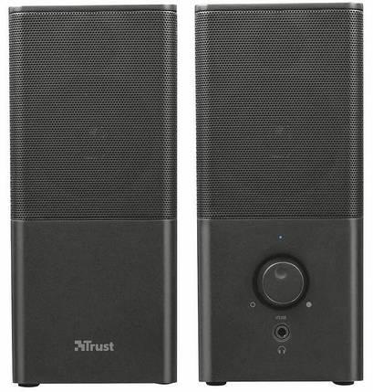 Колонки 2.0 Trust Teros Black, USB, сателлиты 2 x 3 Вт, 150-20000Hz, пластик, управление спереди, выход на наушники, фото 2