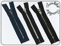 Молния джинсовая №4,5 длина 10см Алюминий