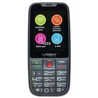 """Мобильный телефон Sigma mobile Comfort 50 Elegance 3 Grey """"бабушкофон"""", 2 Sim"""
