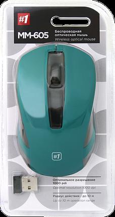 Беспроводная мышка Defender MM-605, Green, компьютерная мышь дефендер для ПК и ноутбука, фото 2