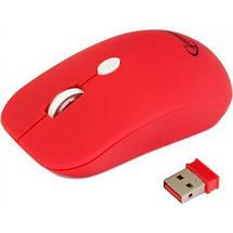 Беспроводная мышка Gembird MUSW-102-R Red, 1600 dpi, компьютерная мышь гембирд для ПК и ноутбука, фото 2