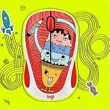 Беспроводная мышка Logitech M238 (910-005051) Doodle Collection Triple Scoop, компьютерная мышь логитек для ПК и ноутбука, фото 3