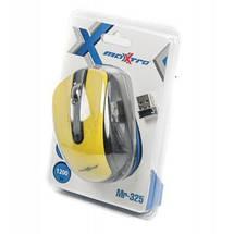 Беспроводная мышка Maxxter Mr-325-Y, Yellow, компьютерная мышь макстер для ПК и ноутбука, фото 3