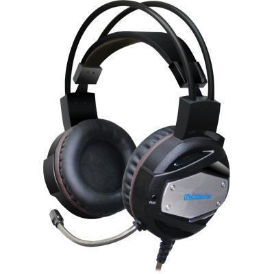 Игровые наушники с микрофоном Defender Warhead G-500 USB Black/Brown, игровая гарнитура