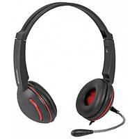 Наушники с микрофоном Defender Aura 115 Black, кабель 2 м, гарнитура для компьютера и ноутбука