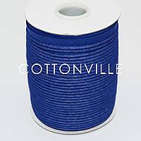Кант хлопковый синий (тонкий) 10 мм