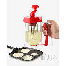 Ручной миксер для теста с дозатором Pancake Machine, фото 2