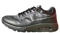 "Кроссовки Nike Air Max 1 Ultra Flyknit ""Black/Grey"" Арт. 2030"