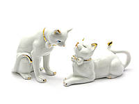 Кошечки пара фарфор (18х9,5х4,5 см)(B1002)
