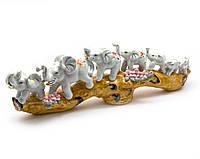 Слоны 7 шт фарфор (39х12,5х7 см)(E420)