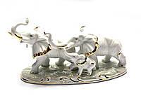 Слоны 3 шт фарфор (21х12х8,5 см)(B629)