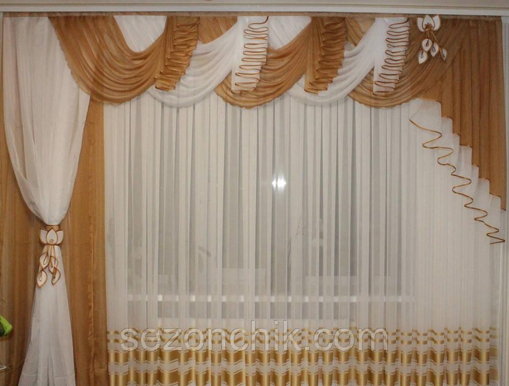 Недорогой комплект готовых штор от производителя