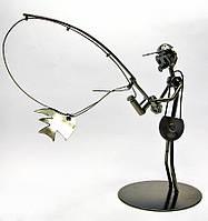 "Техно-арт ""Спиннингист"" металл (19х21х10 см)(Q203)"
