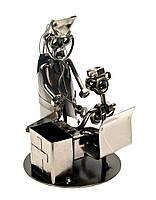 """Техно-арт подставка под ручки """"Врач"""" металл (17,5х12х12 см)(8211)"""