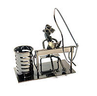 "Техно-арт подставка под ручки ""Пианистка"" металл (24х18х20 см)(C128)"