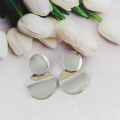Модные женские серьги, цвет серебро