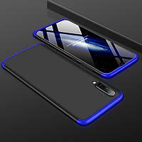 Чохол GKK 360 для Samsung Galaxy A50 2019 / A505 Бампер оригінальний Black-Blue