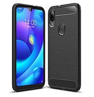 Чехол Carbon для Xiaomi Mi Play бампер оригинальный Black