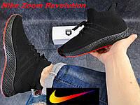 Мужские кроссовки Nike Zoom Flyknit. Кроссовки Найк черные беговые кроссовки. Лицензия, Индонезия.