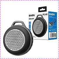 Bluetooth колонка Sven PS-68 Black, блютуз колонка для телефона