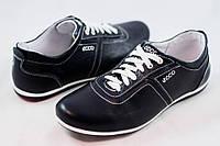 1c8985b8 Мужские кожаные туфли кроссовки в стиле ECCO черные размеры 40, 41, 42, 43