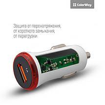 Авто зарядка для телефона ColorWay, USB, 1A, автомобильное зарядное в прикуриватель, фото 3