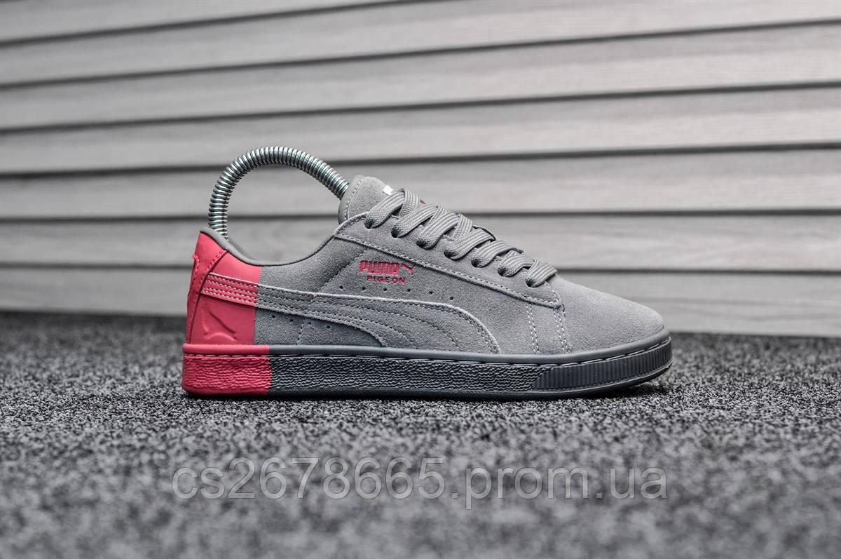 Женские кроссовки Puma Pigeon Gray Pink 8018