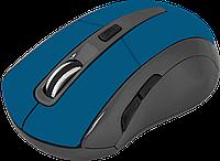 Беспроводная мышка Defender Accura MM-965, Blue, компьютерная мышь дефендер для ПК и ноутбука