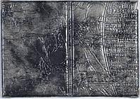 Лакированная обложка на паспорт цвет коричневый