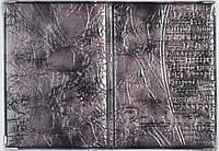 Лакированная обложка на паспорт  цвет фиолетовый