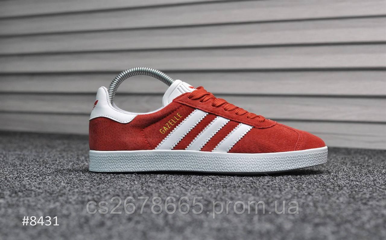 Женские кроссовки Adidas Gazelle II Red 8431
