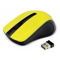 Беспроводная мышка Gembird MUSW-101-Y Yellow, 1200 dpi, компьютерная мышь гембирд для ПК и ноутбука