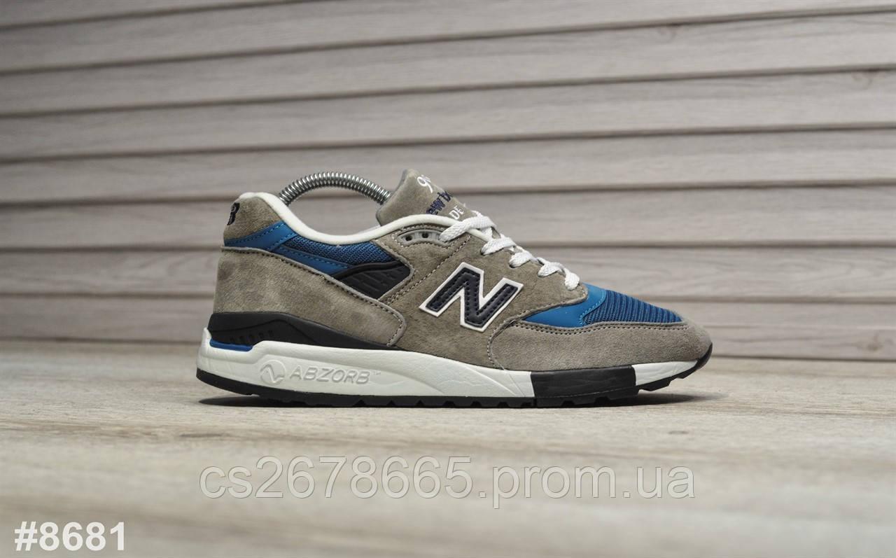 Мужские кроссовки New Balance 998 Dark Gray Blue 8681