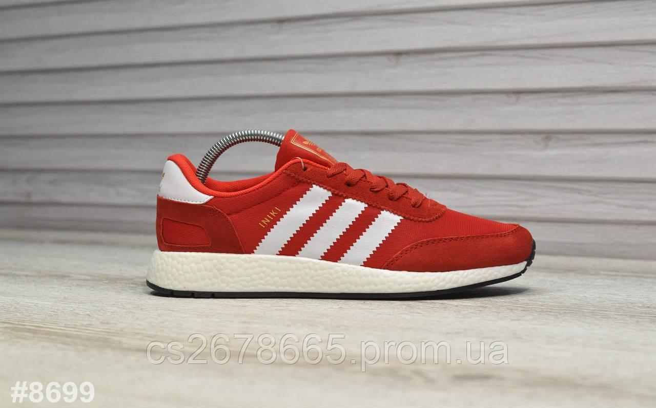 Мужские кроссовки Adidas Iniki Red White 8699