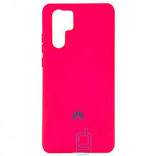 Чехол Silicone Case Full Huawei P30 Pro малиновый